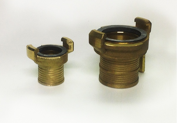 Coupling for hose brass